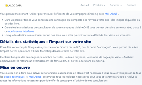 Google Analytics et Mail-ADNS