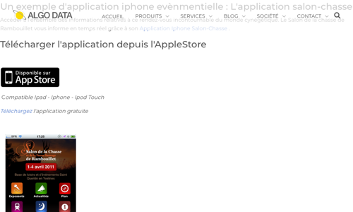 Application Iphone Salon Chasse