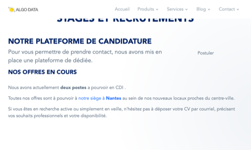 Recrutement et stages